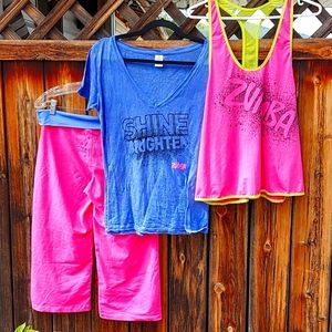 Zumba Shine bright complete Outfit